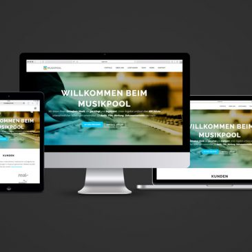 Musikpool Website Responsive Overview